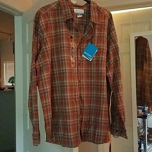 Columbia Sportswear button down plaid shirt